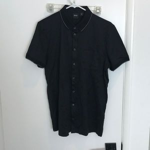 Hugo Boss Men's Short Sleeve Button Down Shirt
